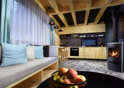 Modrá Vydra kuchyňa