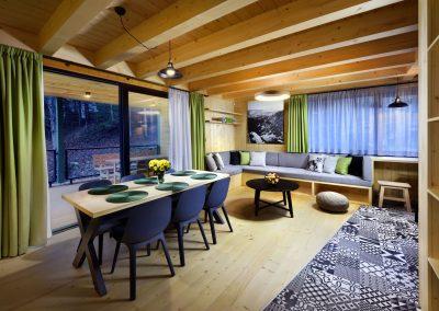 Zelená Vydra spoločenská miestnosť jedáleň