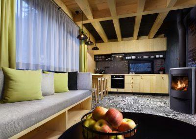 Žltá Vydra kuchyňa