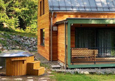 Kúpacia kaďa chata zelená vydra 2